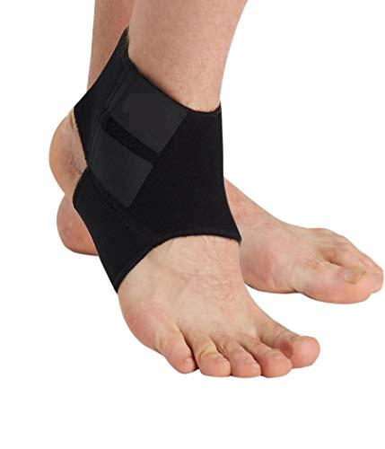 Supporto per piede e caviglia, cavigliera elastica regolabile con strappo, per distorsioni,...
