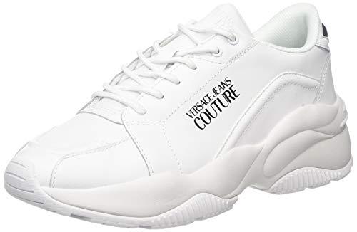 VERSACE JEANS COUTURE Herren Shoes Gymnastikschuhe, Weiß (Bianco Ottico 003), 44 EU