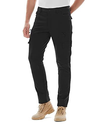 KUTOOK Pantalones Softshell Trekking Hombre Impermeables para Otoño Invierno...