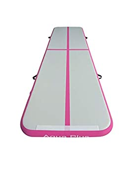 Aqua Plus Inflatable Track Air Tumble Track Mat Air Gymnastics Tumbling Track Mat 4inches Thickness Exercise Training Mat Cheerleading Yoga Beach Board