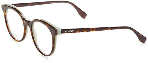 FENDI Damen FF 0249 086 50 Sonnenbrille, Braun (Dark Havana)