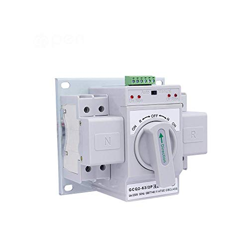2P 63 A 220 V Interruptor de transferencia automático con doble potencia Interruptor basculante automático con doble potencia