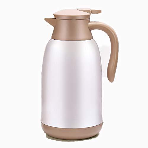 Aoyo Isolierkessel Kaffeekanne, Haushalt Großraumkessel, Wohnheim Wasserflaschenthermosflasche(Color:1.6L White)