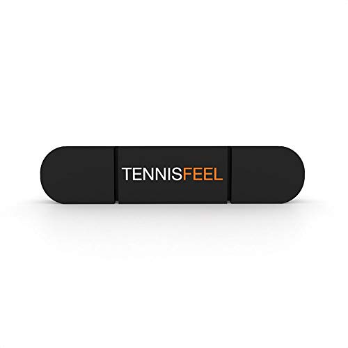 Tennis Feel Clipme • Antivibrazione Premium • Ammortizzatore per Racchetta da Tennis • Tenuta ottimale e Massima Resistenza • Confezione da 1 (Nero)