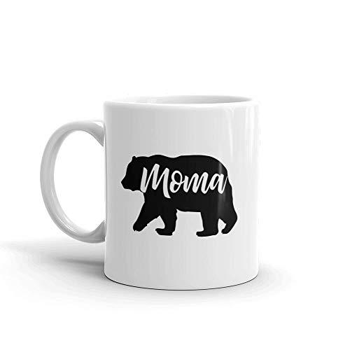 N\A Bear Moma Einzigartige Kaffeetasse/Tasse aus Keramik & mdash; Geburtstag Muttertag Mutter Mutter Oma