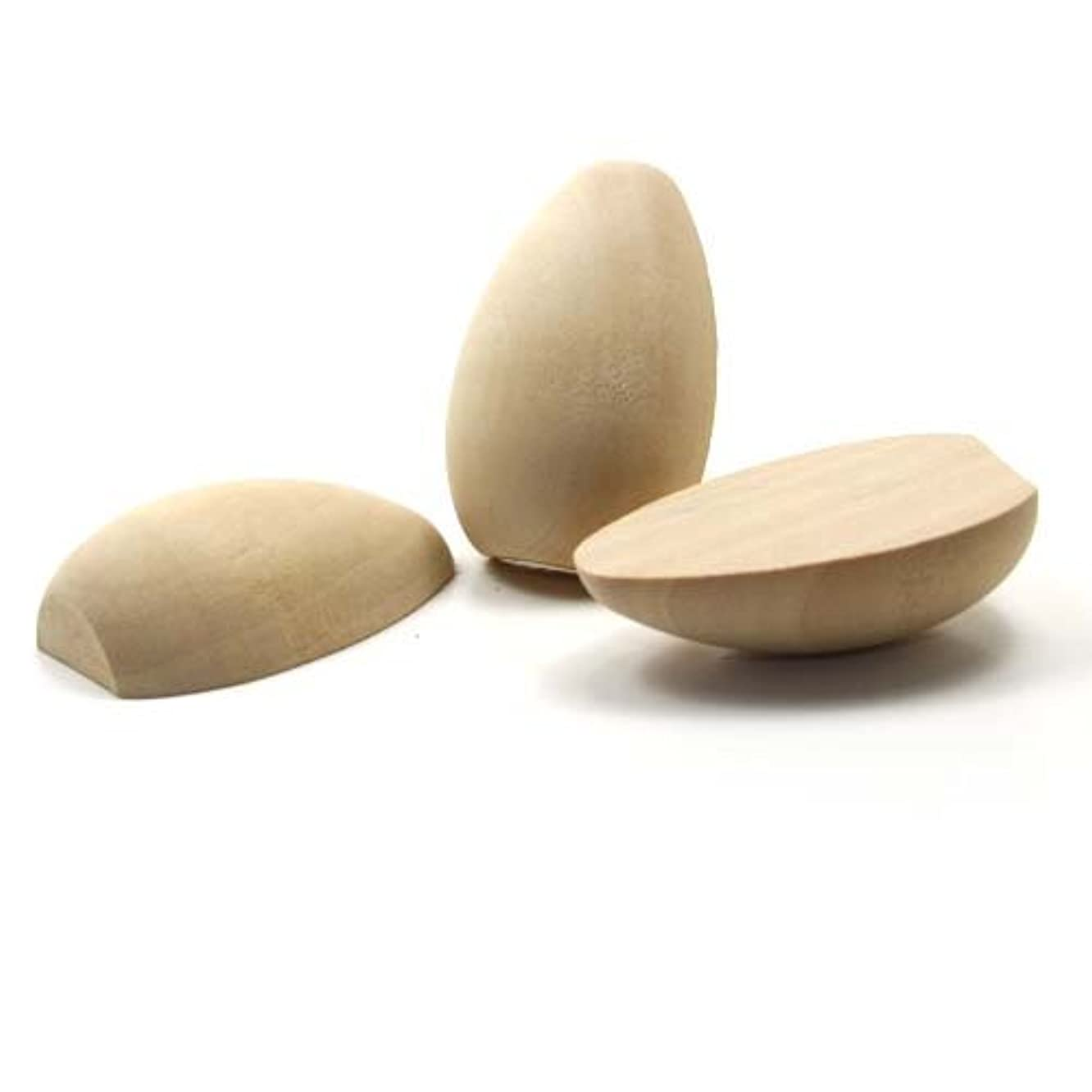 Mylittlewoodshop - Pkg of 25 - Egg Split - 1-5/16 inches tall and 7/16 inches thick unfinished wood(WW-CPE065-26)