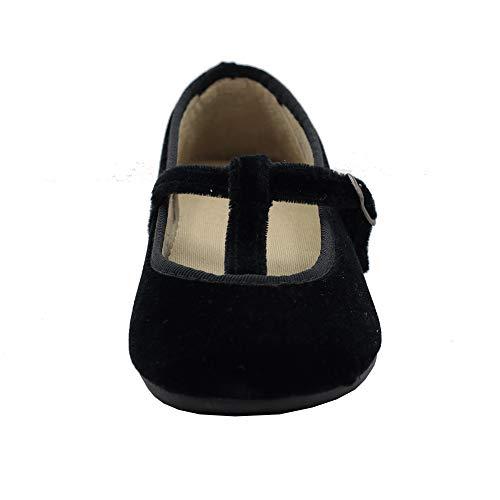 Zapatillas Kiku – Zapatillas Infantiles Charlotte Terciopelo - Calzado Infantil Kiku Kids (Negro, Numeric_33)