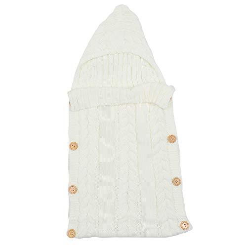 Kisangel Blanco Cochecito Banderín Bolsa Impermeable Saco de Dormir Infantil Saco de Bebé Niño Manta Caliente Swaddle para Cochecito Silla de Paseo