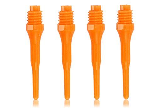 OLYMPOO - 500 STK.Profi Dartspitzen Kunststoff für elektronische Dartscheibe - 2ba klein Gewinde - Dartpfeile Spitzen aus Plastik (ORANGE)