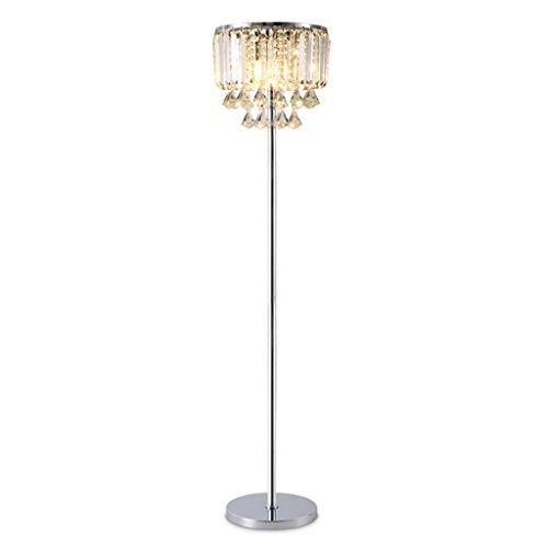 LOVELY LAMP Lampe de sol en cristal de luxe, lampe en verre E14 de coupe en métal pour le salon, chambre à coucher, H158cm × D35cm