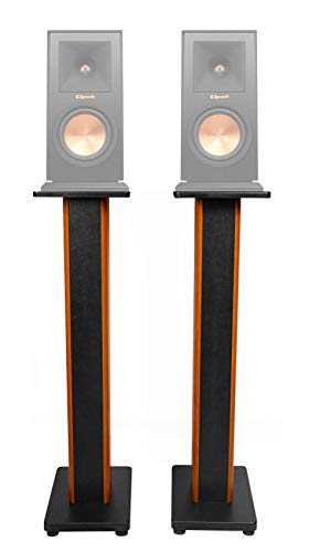 Best Review Of (2) 36 Bookshelf Speaker Stands for Klipsch RP-150M Bookshelf Speakers