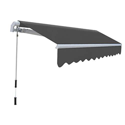 Festnight- Toldo para Balcón Toldo Plegable de Operación Manual Estructura Aluminio 300 cm Antracita