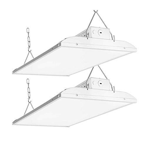 Linear LED High Bay Light 2FT, LED Shop Light Fixture 135W 20600lm 0-10V dimmable 5000K Daylight [600W Fluorescent Equiv.] Motion Sensor Optional, Indoor Commercial Warehouse Area Light For 135W 2pack