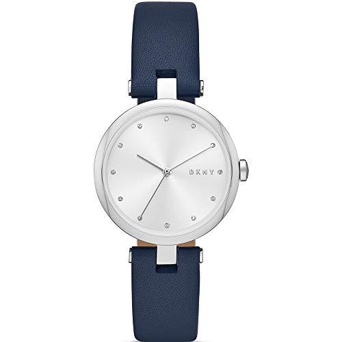 DKNY Eastside - Reloj de Cuero para Mujer Azul Marino de Tres manecillas - NY2814