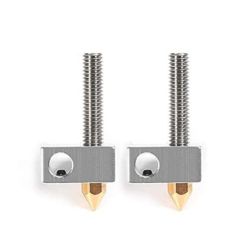 Bisofice anet 2 unids/set 0,4mm cabezal de impresión extrusora de boquilla de latón + bloque calentador Hotend + tubos de garganta de 1,75mm para Anet A8 A6 Ender 3 accesorios de impresora 3D