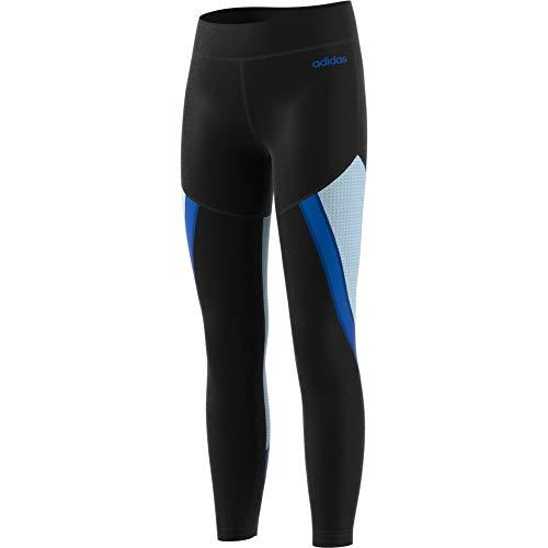 adidas, 4062055495916, leggings voor kinderen, zwart/skytin/globlauw, maat 170