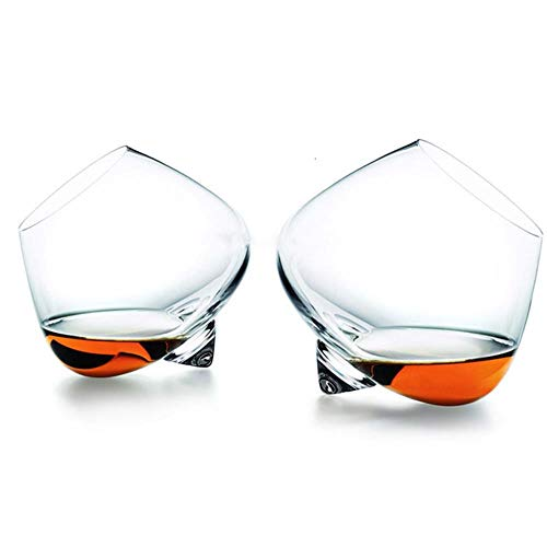 BWM Revolve Liqueur Cognac Whisky Rock Glas Top Roterende Tumbler Whiskey Scopperil Crystal Wine Cup Brandy Snifter
