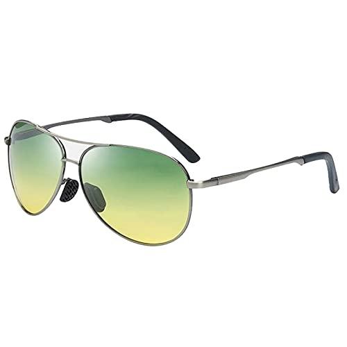 BEIAKE Adultos Gafas De Sol Polarizadas Gafas De Resina Gafas De Día Y De Noche Gafas De Sol Adecuadas para Ciclismo, Carrera, Viajes, Playa, Gafas De Conducción,Gris