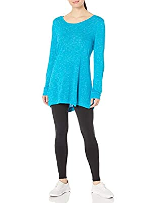 Hanes Women's Lightweight Spacedye Vented Tunic, Bold Blue, Medium