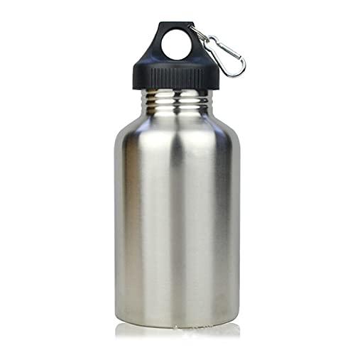 JXHYKJ 2000 ml 2L Botella de Acero Inoxidable al Aire Libre BPA Botella de Agua Gratis de Bebida al Aire Libre con Bolsa Botella de Bebida Directa a Prueba de Fugas