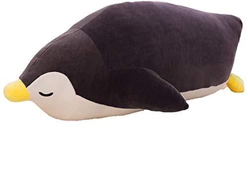 RSBCSHI Penguin Weiche Plüschkissen Tier gefüllte Spielzeug Geschenk für Weihnachten Valentines Geburtstagsgeschenk für Wohnkultur Plüschpuppe, 35-70cm (Color : Black, Size : 50cm)