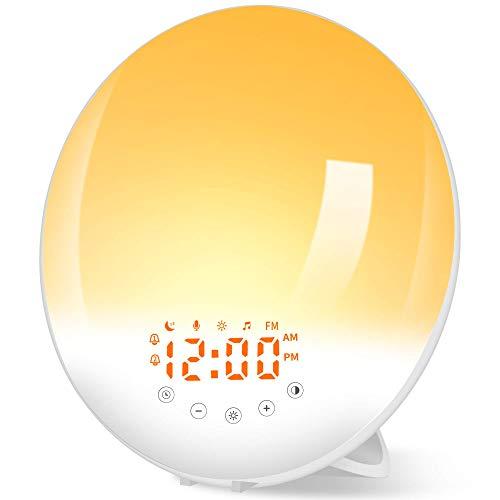 Radio Réveil Lumineux avec Lampe Réveil Lampe de Chevet 30...