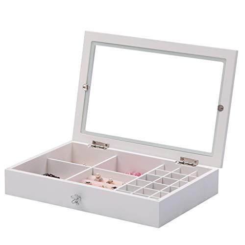 Caja de Joyas Caja de Almacenamiento Simple de Madera Pulsera Collar Pendientes de Anillo Joyero Joyero Viaje Decorativas