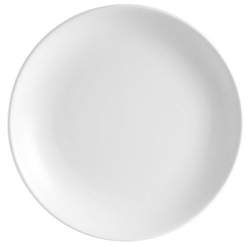 CAC China COP-16 Coupe 10-Inch Super White Porcelain Plate, Box of 12