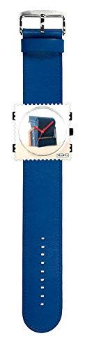 S.T.A.M.P.S. Stamps Uhr KOMPLETT - Zifferblatt SPO mit Lederarmband deep Blue
