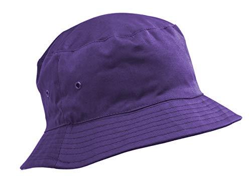 Kinder-Baumwollhut/Sonnenkappe, Alter 8-11Jahre, Jungen oder Mädchen Gr. 56 cm, violett