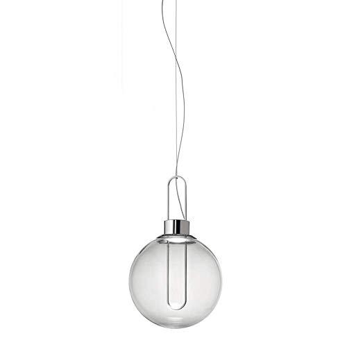 NZDY Pantalla de Iluminación Colgante de Vidrio Lámpara de Techo Colgante de Luz Cálida Led Moderna Pantalla de Vidrio Lámparas de Techo Colgantes Lámpara de Araña de Hierro Forjado Lámpara de Suspen