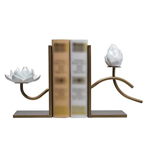 Gx Fermalibri Lotus Fermalibri In Ceramica Set Fermalibri Scrivania Per Bambini Libreria Camera Da Letto Asilo Creativo Accessori Per La Casa Da