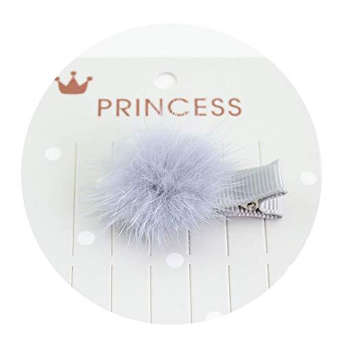 TOUSHI Haar Zubehör 1 Stücke Mädchen Haarnadeln Mit Kleinen Fell Pompon Mini Ball Gripper Hairball Pom Haarspangen Kinder Haarspange Zubehör