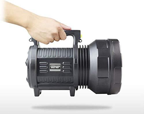 Nologo Reflector Recargable Patrulla 350 lúmenes de luz portátil 100W deslumbramiento LED Super Brillante de Largo Alcance de la Noche al Aire Libre Camping Pesca -5000mAh Linterna