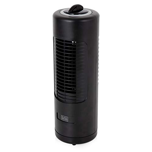 BLACK+DECKER BXFT50003GB Mini Tower Fan, Bedside Table or Desk Fan, 2 Speed...