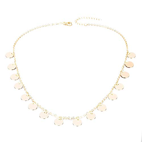 Choker ketting vrouwelijke munten - vrouw - moeder - munten - valentijn - meisjes - mode - origineel cadeau-idee - tribal - verjaardag - kerstmis - goud - sieraden