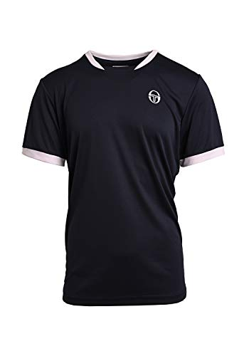 Sergio Tacchini Club Tech T-Shirt, Maglietta da Uomo, Blu/Bianco, S