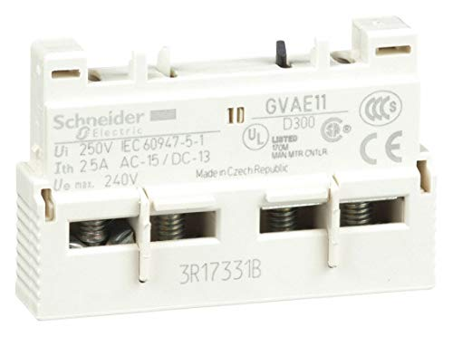 Schneider Electric Auxiliary Contact, 2.5 Amps, Instantaneous Type, Front Mounting