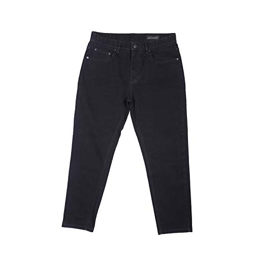 Pantalones Vaqueros Rectos Ajustados Holgados para Hombre Pantalones Vaqueros elásticos Coreanos Casuales de Color sólido de otoño Pantalones Vaqueros de Todos los tamaños de Pierna de Cintura Medium
