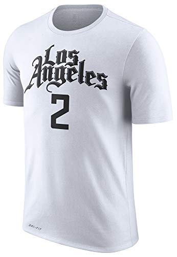 NBA Youth 8-20 Performance Dri Fit City Edition Name & Number Player T-Shirt (8, Kawhi Leonard Los Angeles Clippers White City Edition)