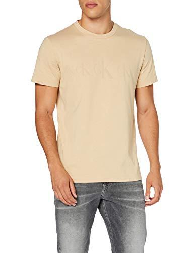 Calvin Klein CK Eco SS tee Camisa, Irish Cream, XXL para Hombre