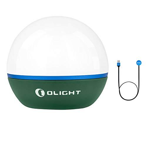 OLIGHT Obulb Bombilla LED 55 lúmenes blanco cálido LED 2700 K y rojo LED 620 nm pequeña luz nocturna 4 modos regulable recargable portátil luz de bolsillo luz de emergencia iluminación exterior