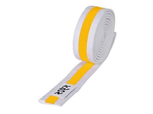 KWON Budogürtel mehrfarbig 240 weiß-gelb-weiß