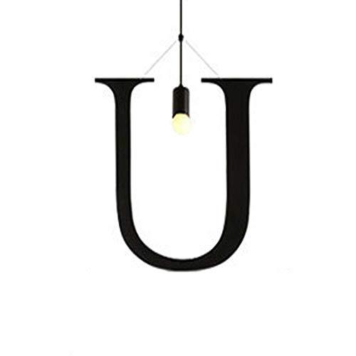 JUAN prachtige lamp/hanglamp in Engels alfabet voor creatief licht modern minimalistisch metaal lamphouder E27 verschillende feestmodellen slaapkamer bar caf