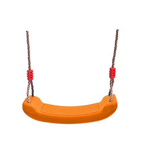 JKKJ Columpio de árbol de jardín con cuerdas ajustables, tabla de columpio elástica antideslizante y marcos de escalada, ideal para niños y adolescentes