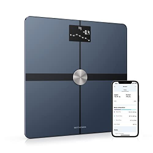 Withings Body+ - Balance Connectée WIFI et Bluetooth avec Analyse de la Composition Corporelle (Poids, Masse Grasse/Musculaire/Osseuse, Eau), Pèse Personne Impédancemètre Multi-Utilisateurs