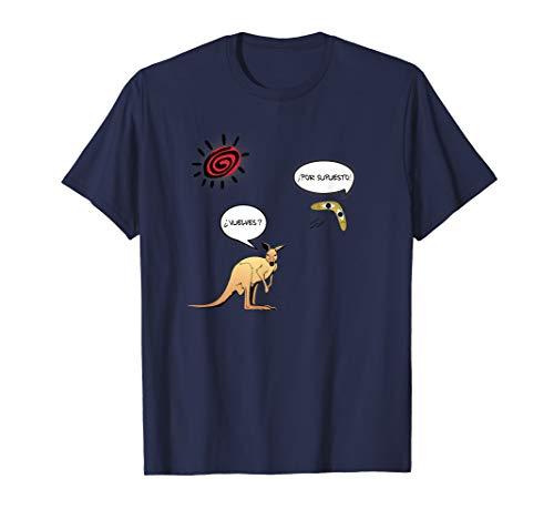 Speak More Spanish Spanischer Känguru und Bumerang T-Shirt
