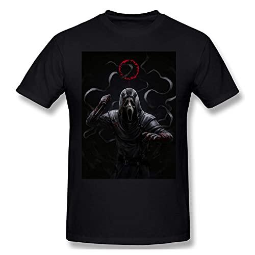 Scream Horror Movie Camiseta de Manga Corta de Algod¨®n a la Moda para Hombres y j¨®Venes Camiseta gr¨¢fica Grande