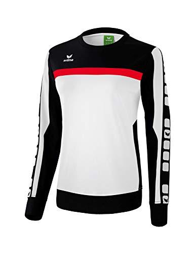 Erima 5-Cubes Sweatshirt Pullover Damen Weiss