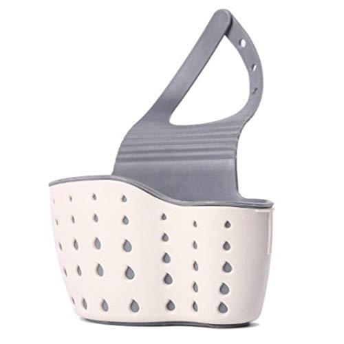 Cocina Faucet Rack Rag Storage Bag Silicona Fregadero Drenaje Rack Storage Basket (Beige)